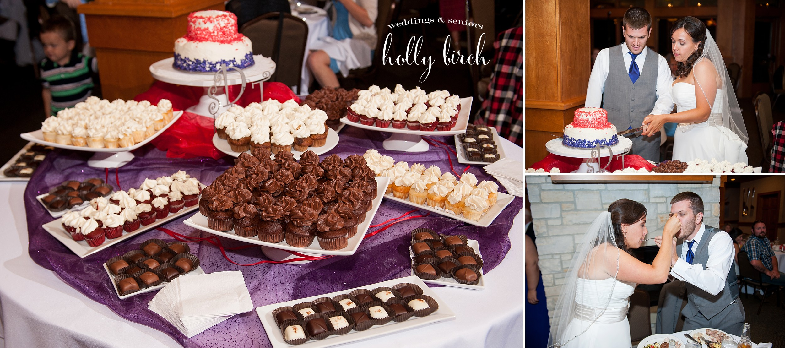 wedding cupcakes and chocolate confections