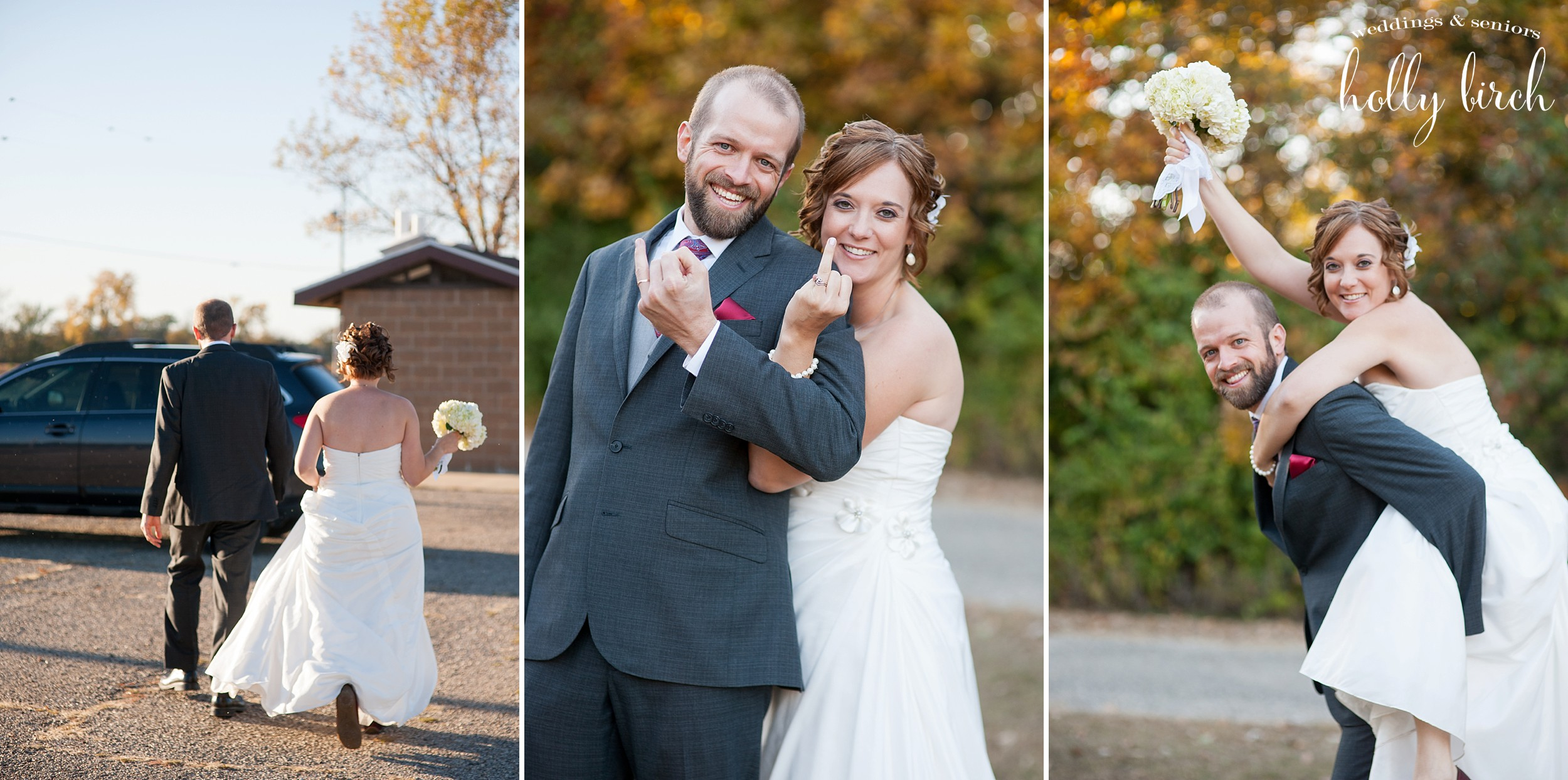 fun bride and groom shots