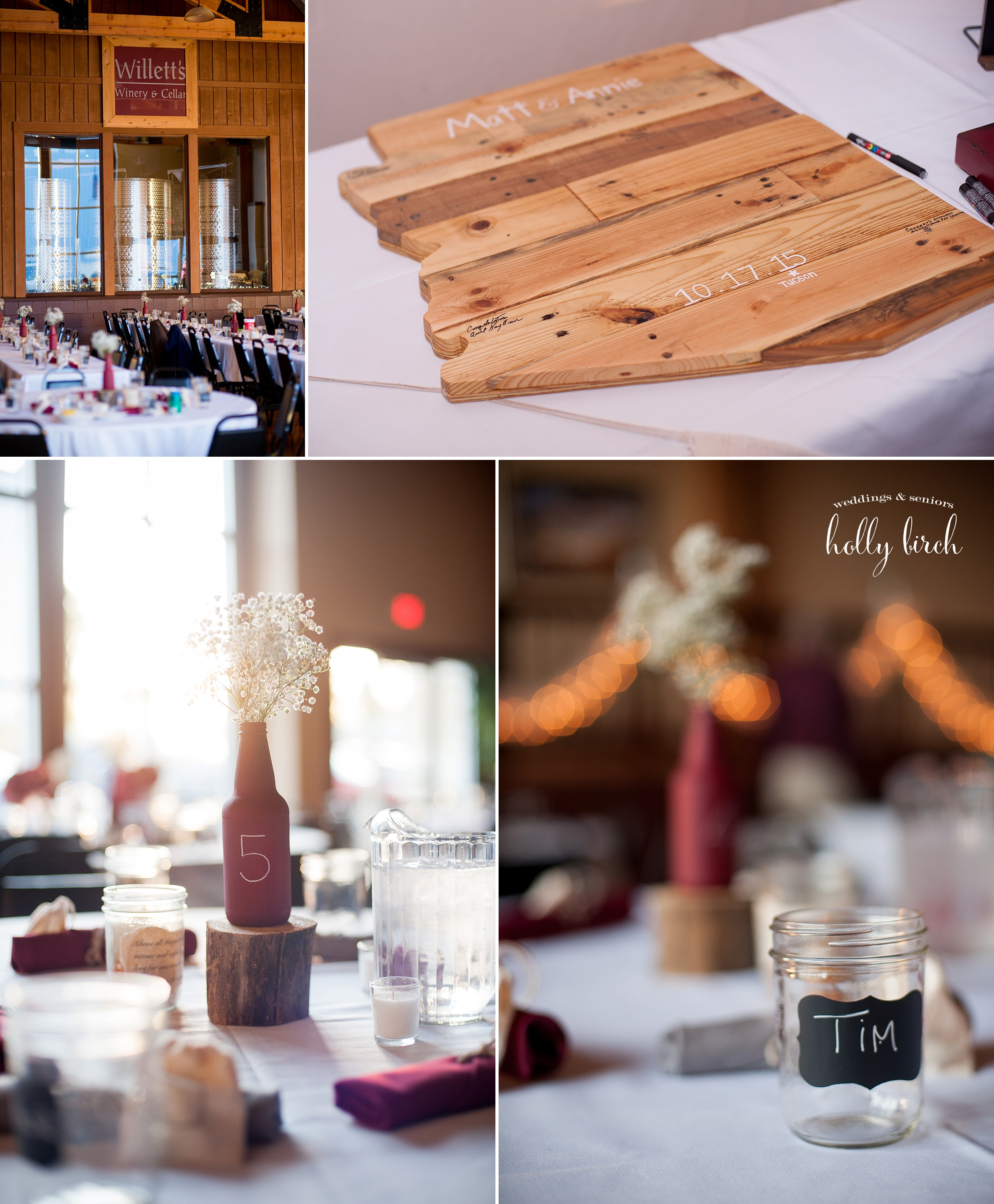 Willett's Winery Manito reception details