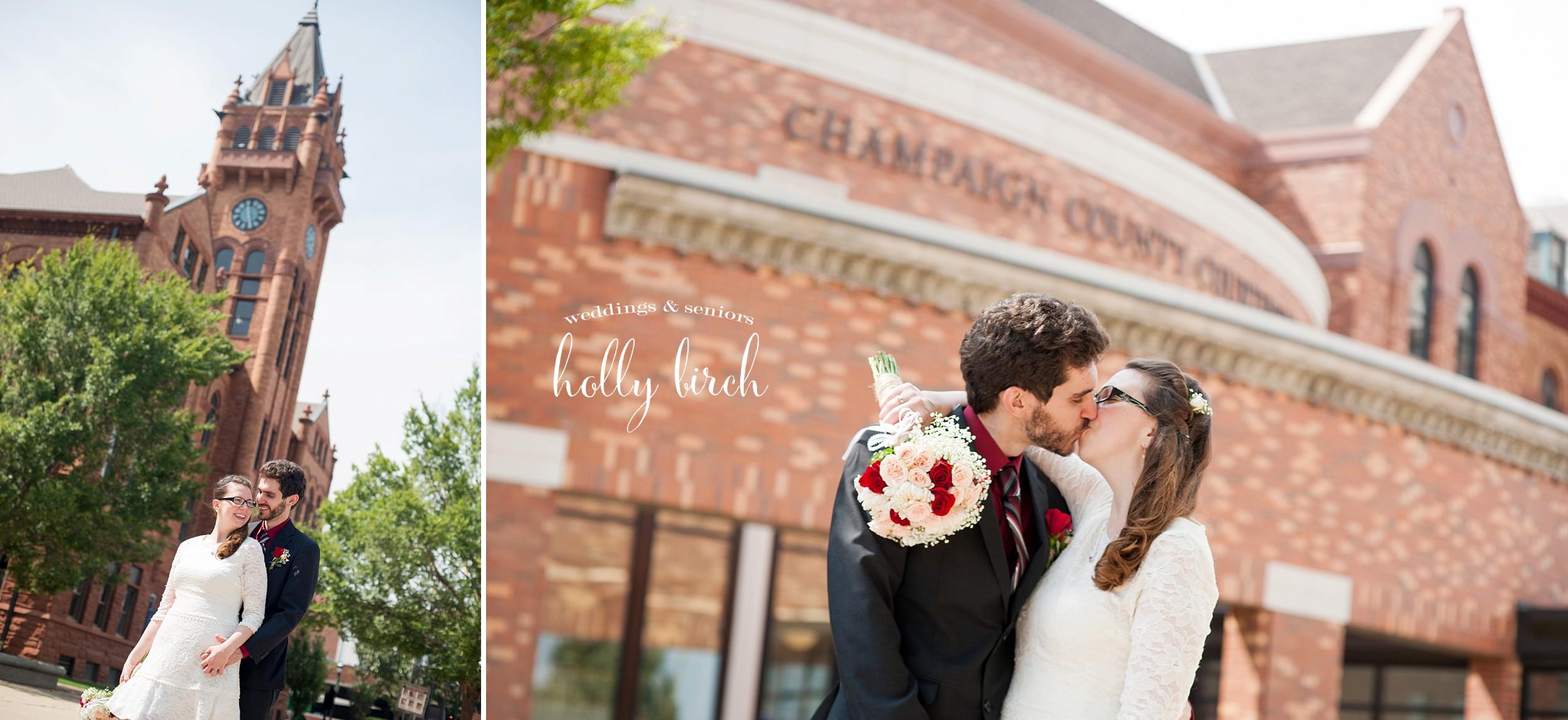 beautiful brick courthouse wedding