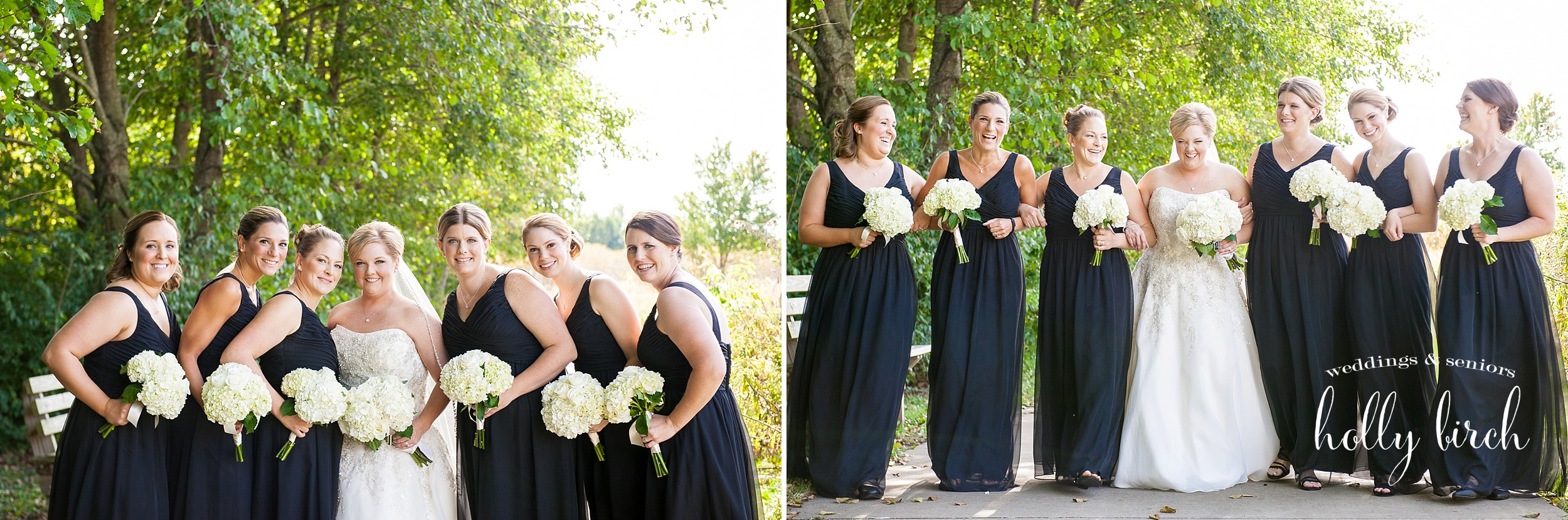 bridesmaids at meadowbrook park