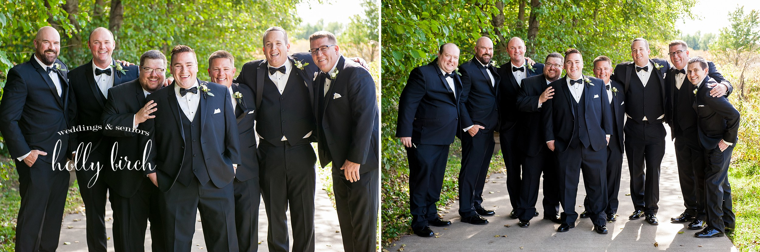 groomsmen at meadowbrook Park