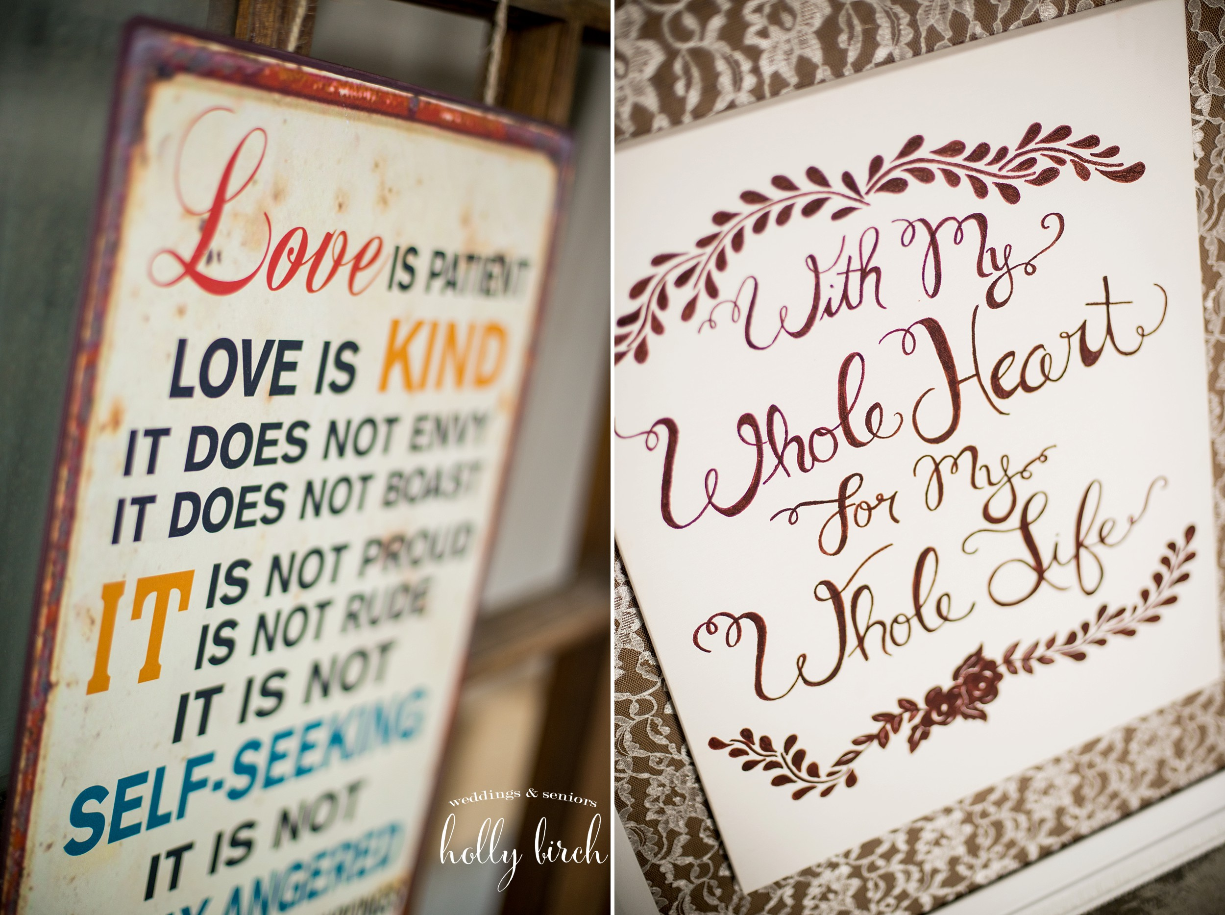 rura wedding signs