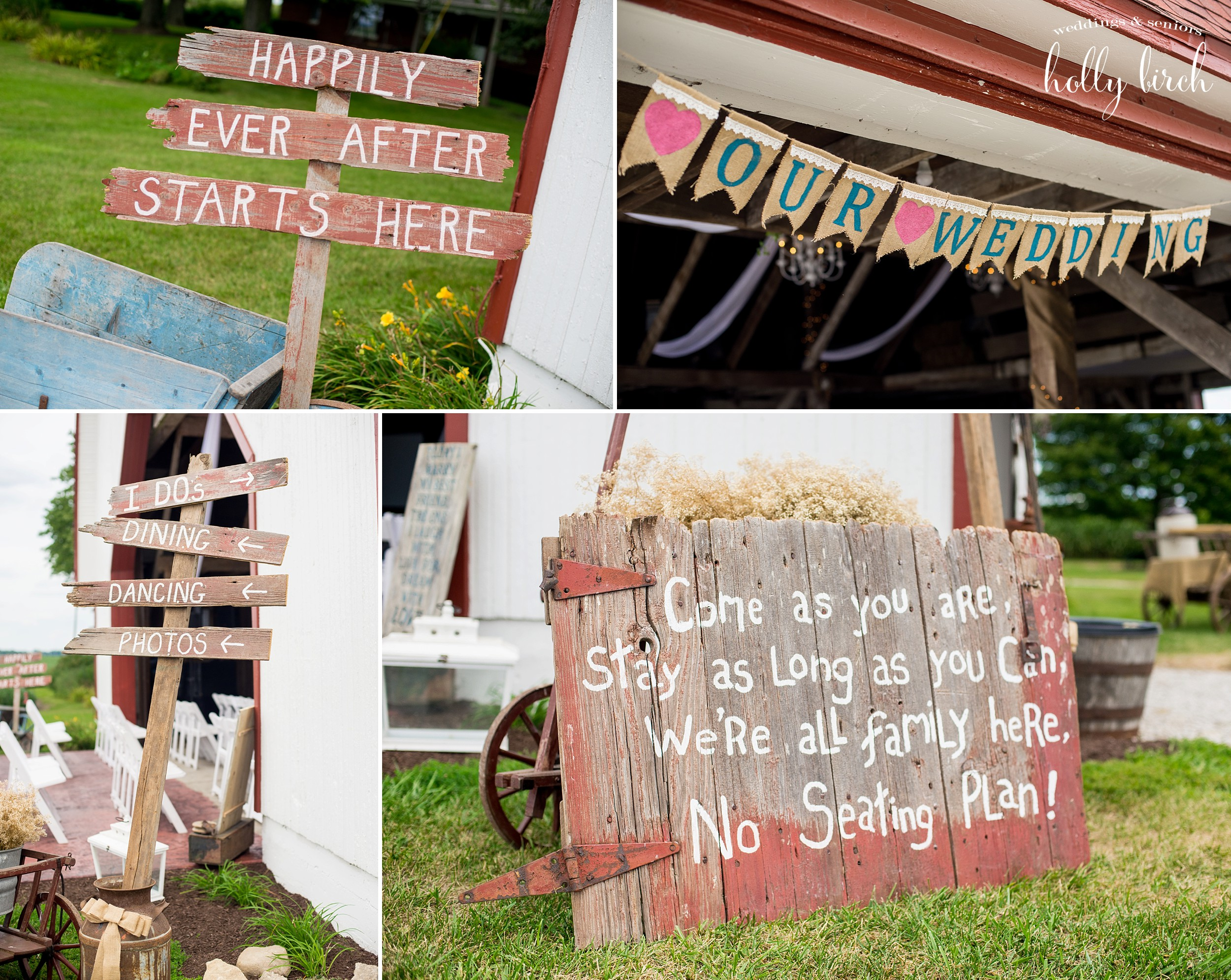 rustic pallet wedding signs