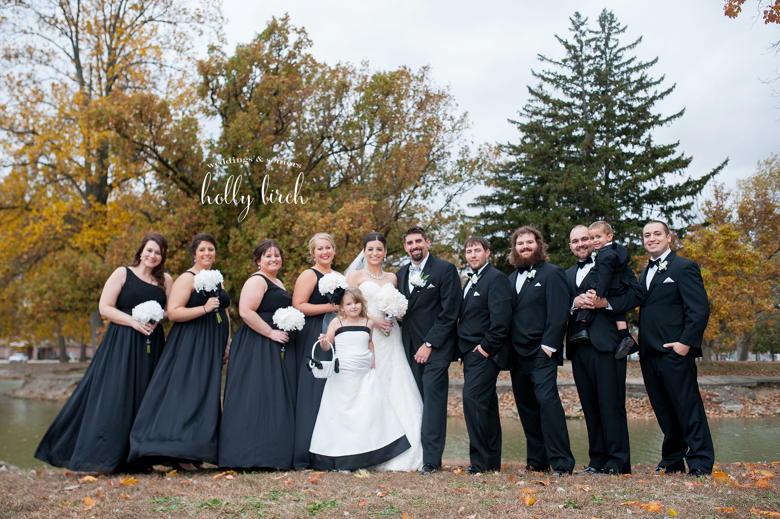 wedding party at Forrest Park
