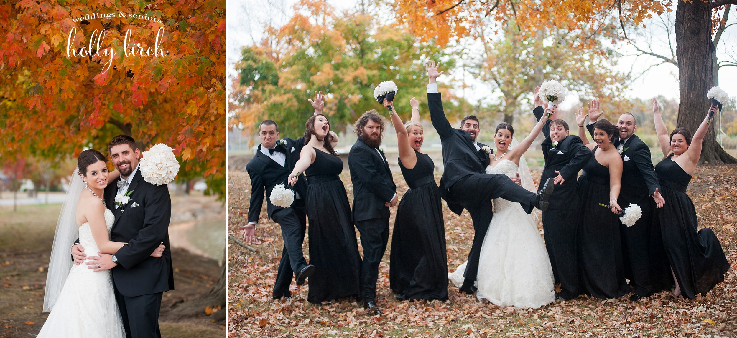 fun goofy wedding party