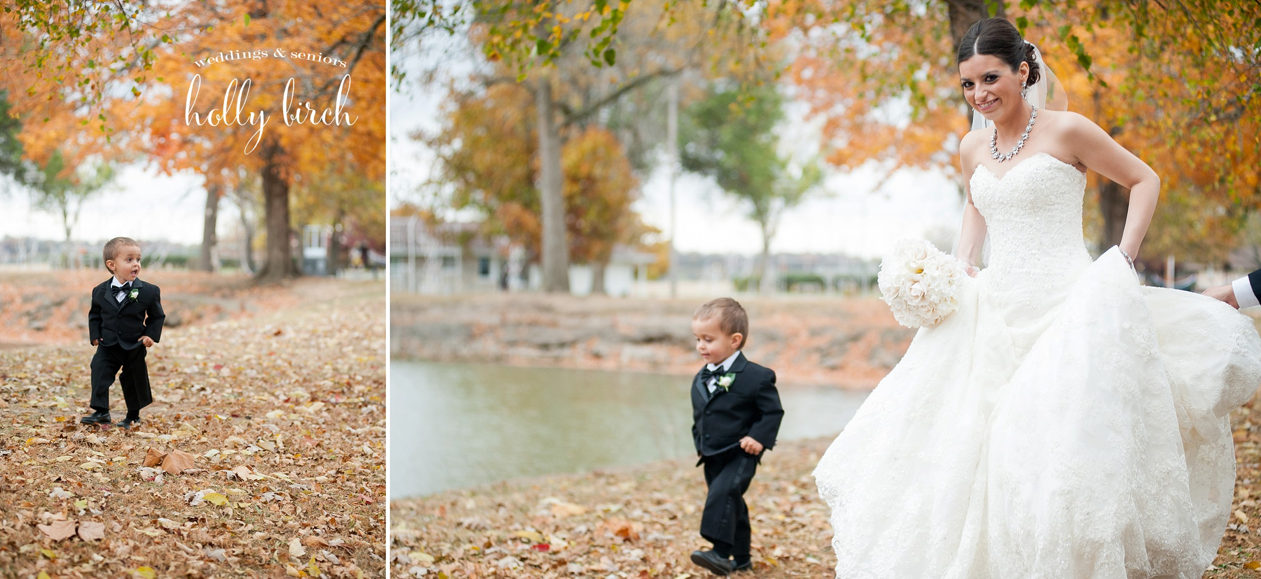 ring bearer walking like bride