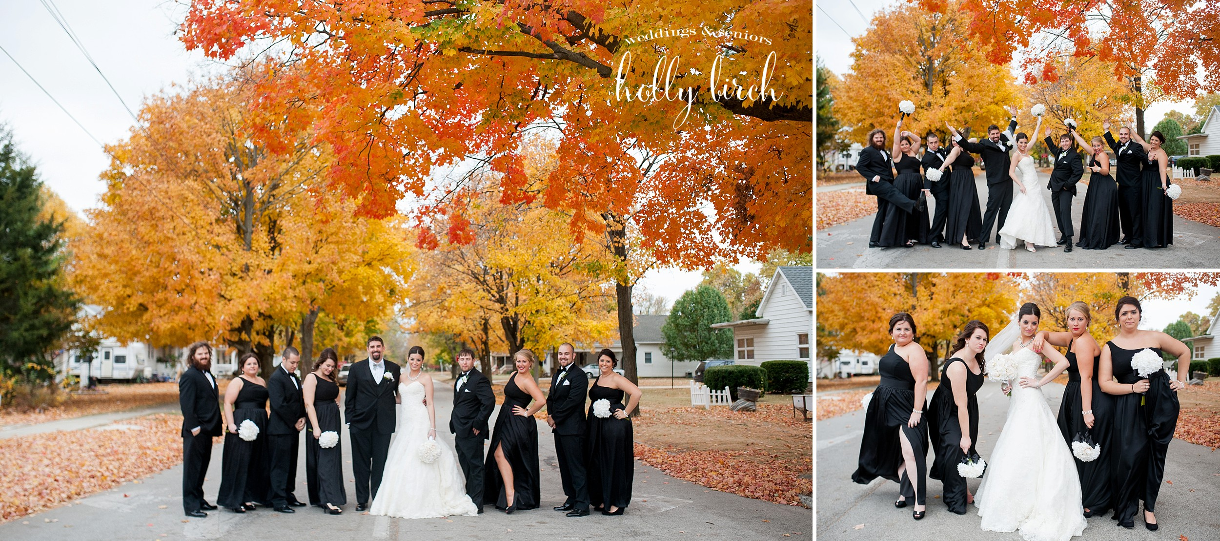 fun fall autumn wedding pics