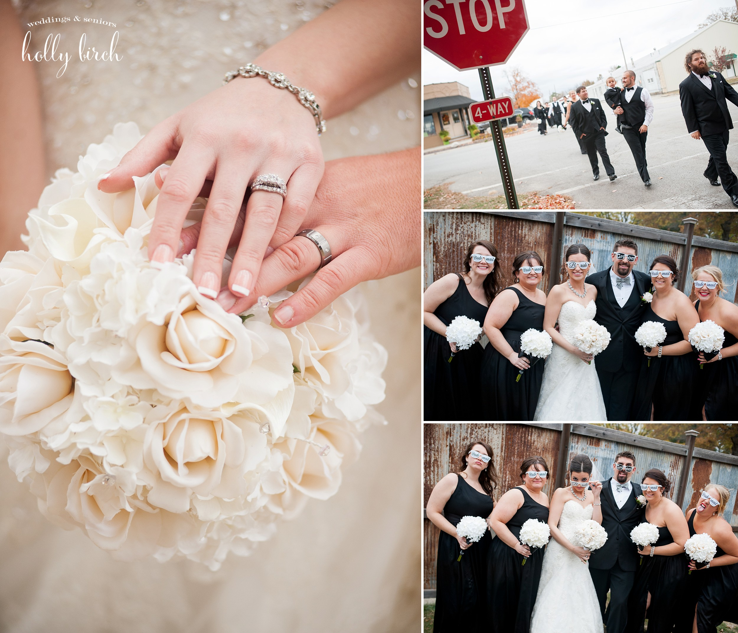 rings and fun wedding glasses