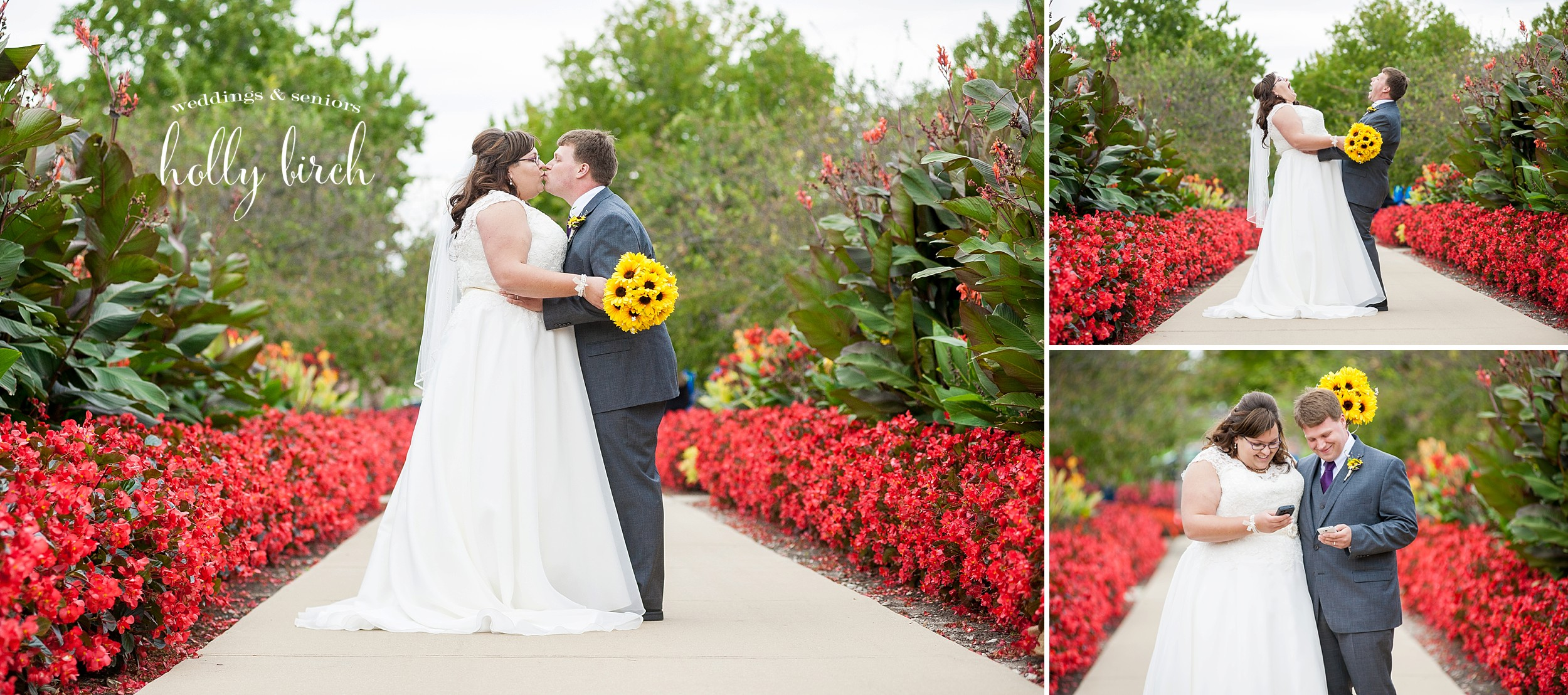 fall overcast wedding photos