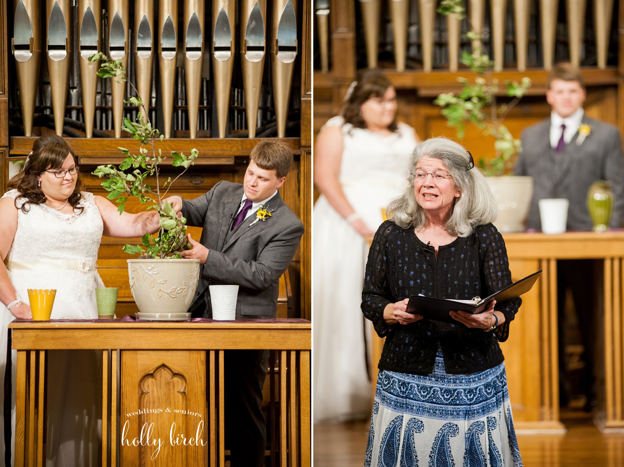 Rev. Janet Newman and wedding tree