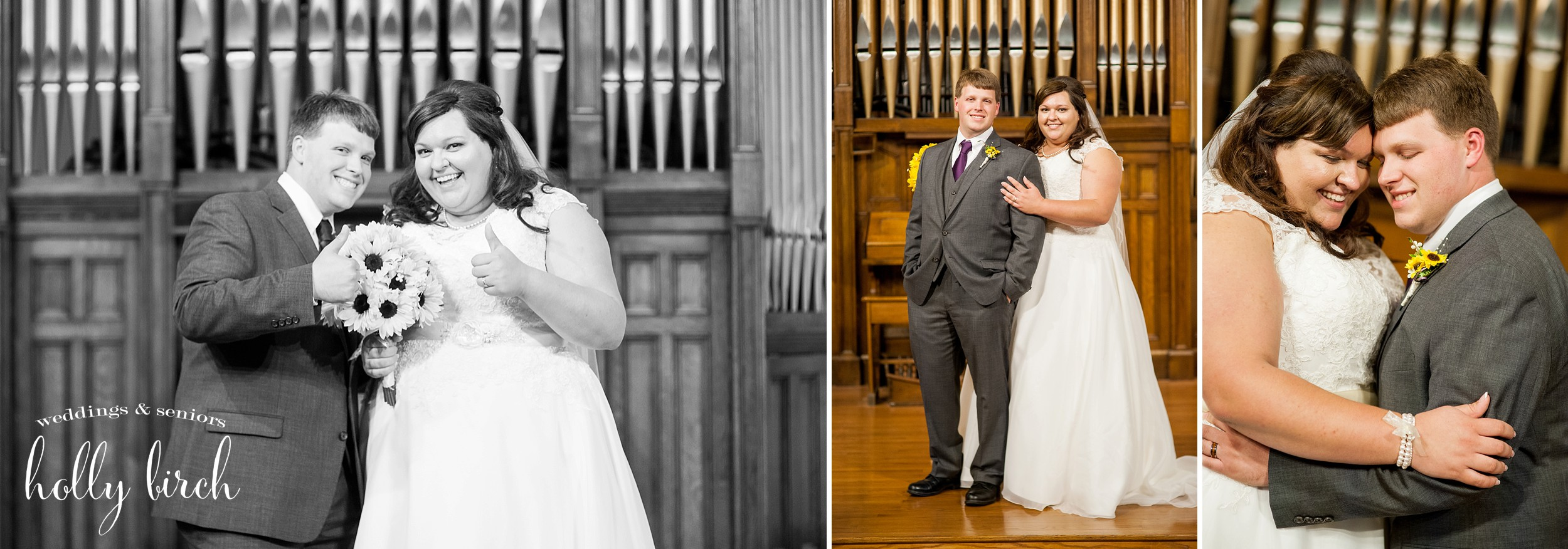 formal portraits in church sanctuary