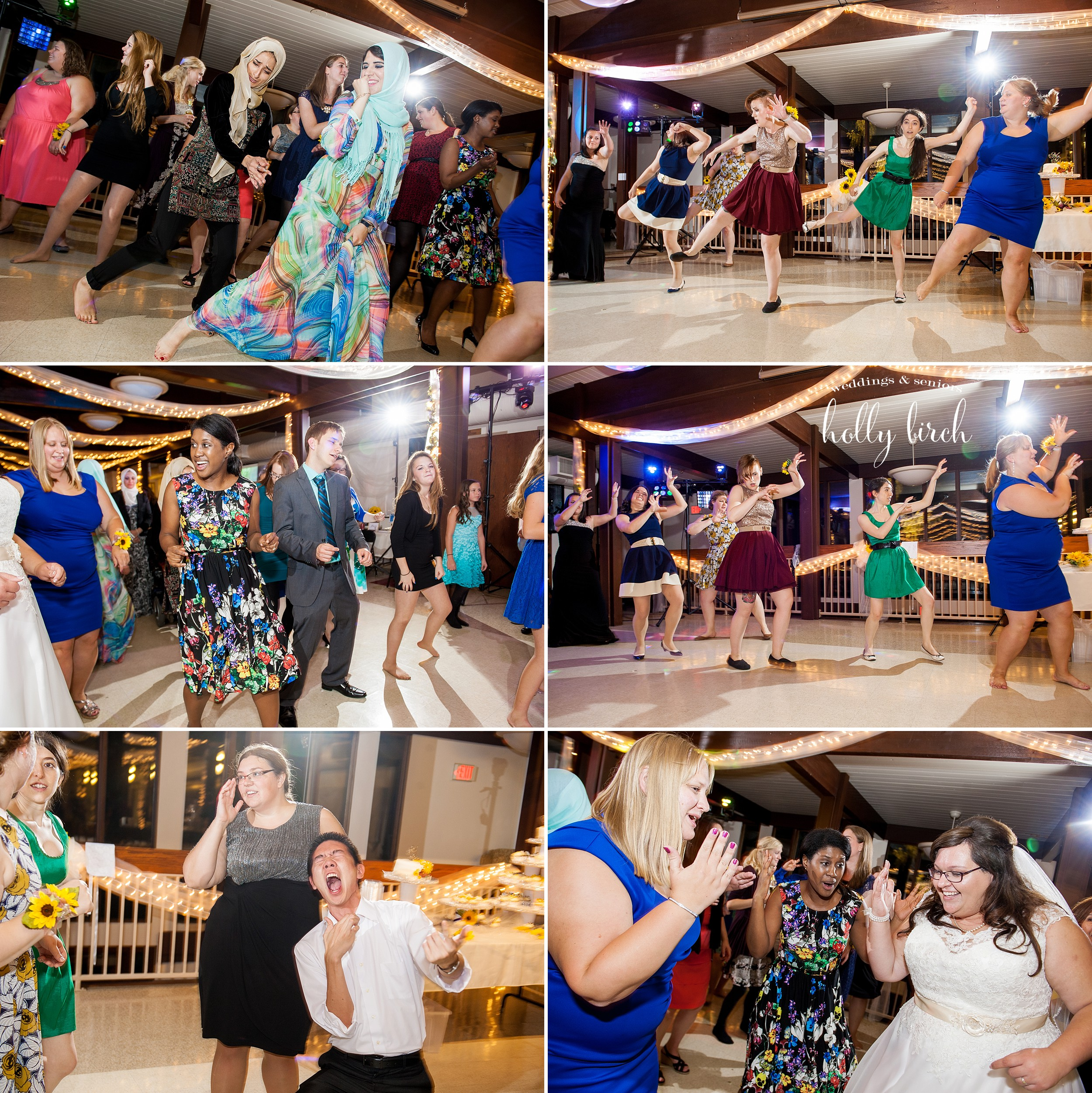 dancing to Thriller at wedding
