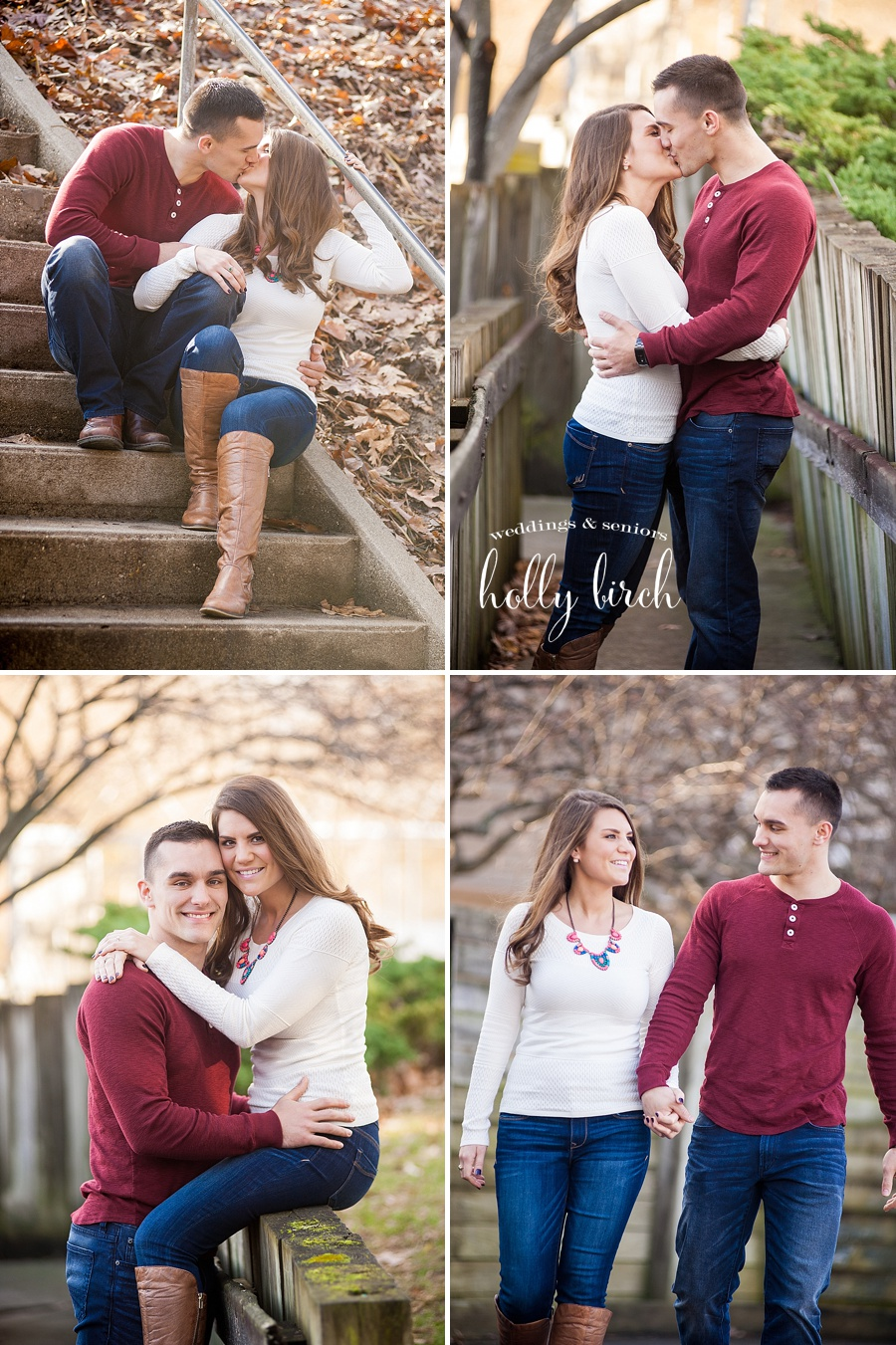 Crystal Lake Park steps engagement