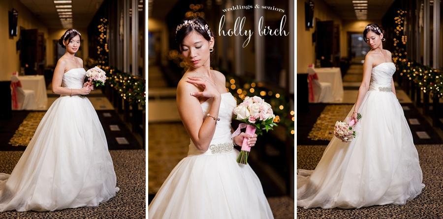 December bridal portraits