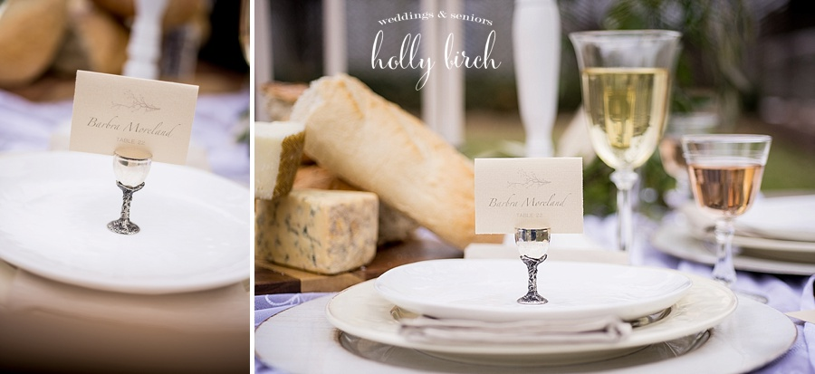 place settings and escort cards