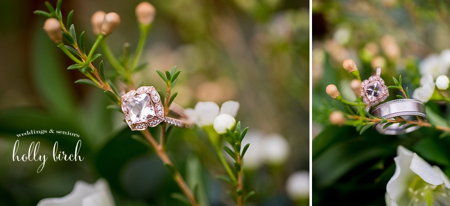 rose gold solitary diamond ring