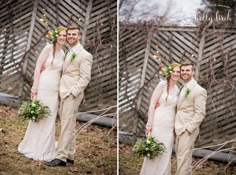 Winter wedding session at vineyards