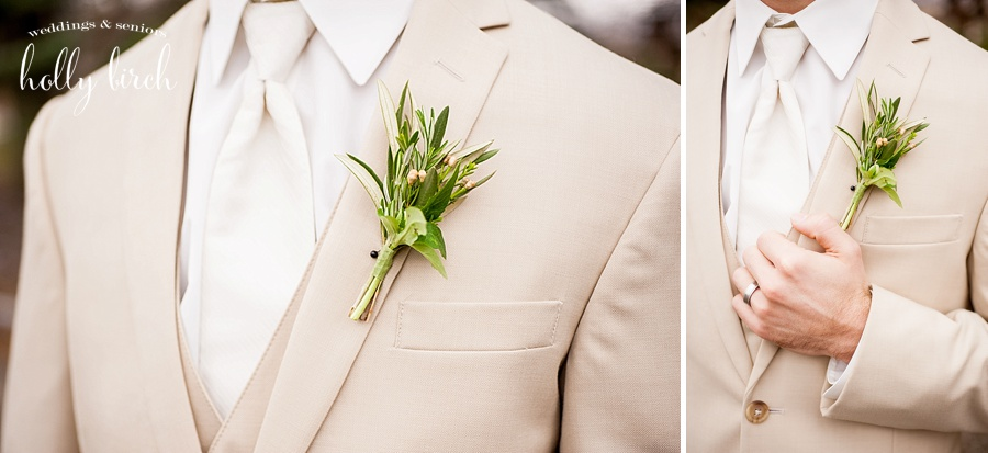 groom's greenery boutonneire