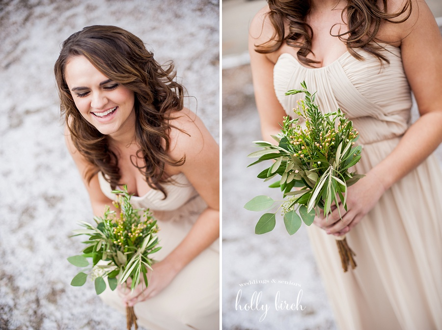 hellebore, waxflower, eucalyptus, ruscus, olive, rosemary, hypericum