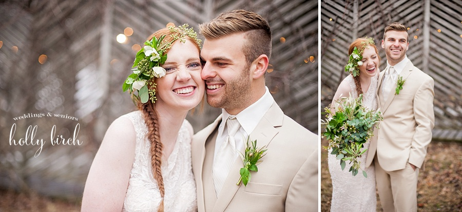 Adorable stylized wedding shoot couple