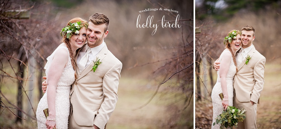 cuddly bride and groom at Alto Vineyards