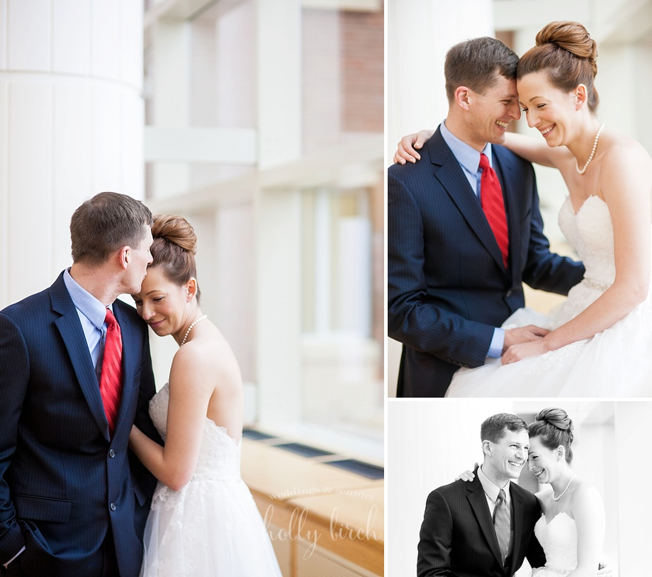 natural window light wedding portraits