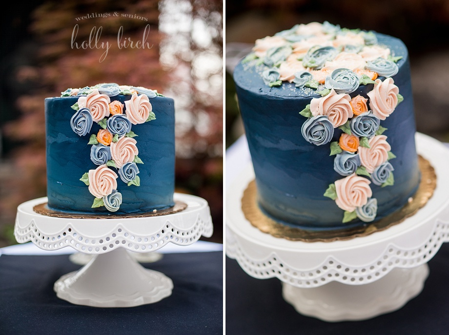 Hopscotch cakes blue wedding cake