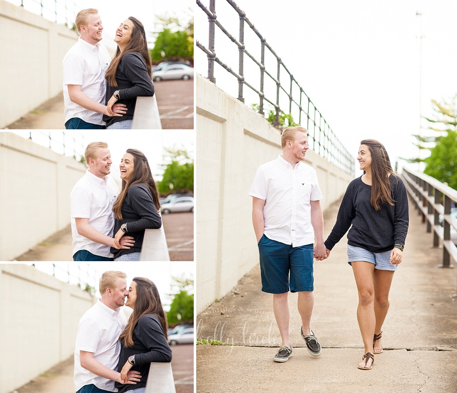 seaside beachfront boardwalk engagement