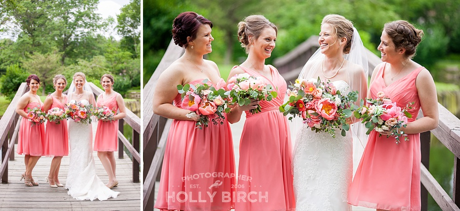 coral dress bridesmaids