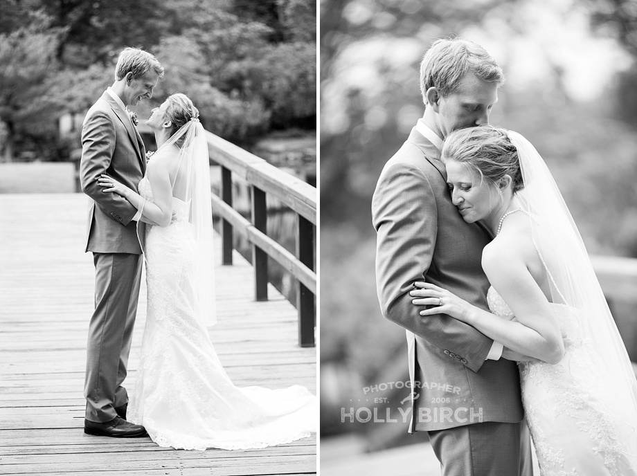 black and white bride and groom portraits