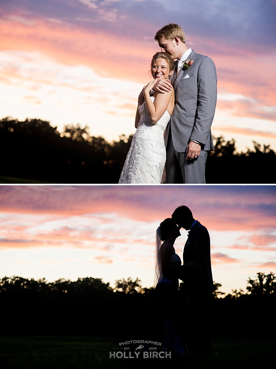 sunset silhouette and OCF portraits