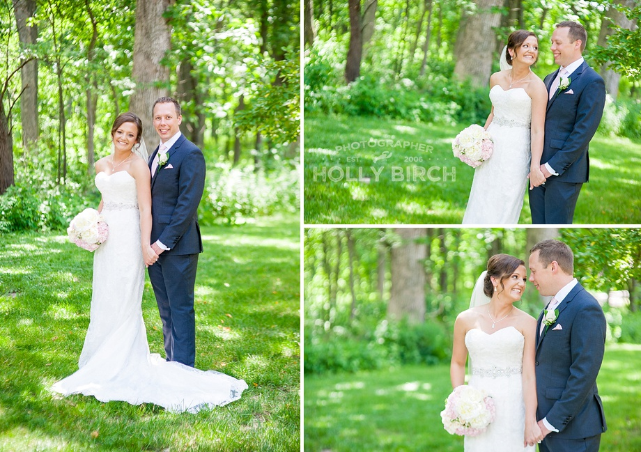 bride and groom outdoor portraits