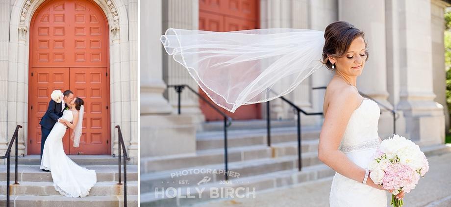 bridal dip and veil