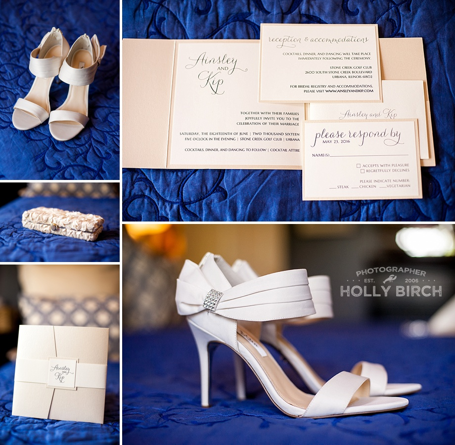 elegant wedding shoes and invitations