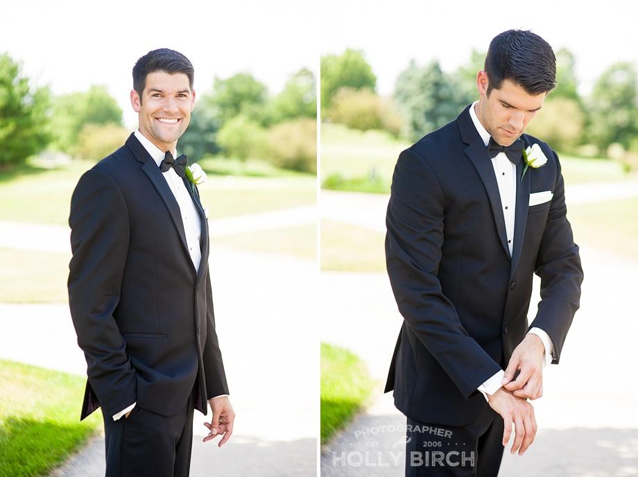 handsome groom with designer tux