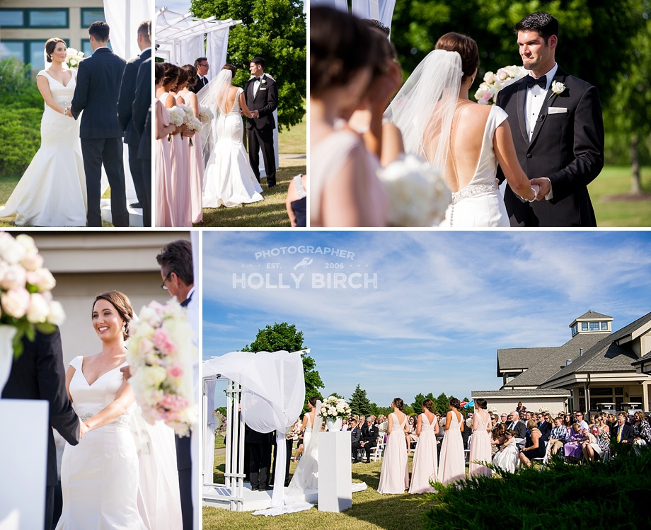 lovely outdoor wedding ceremony