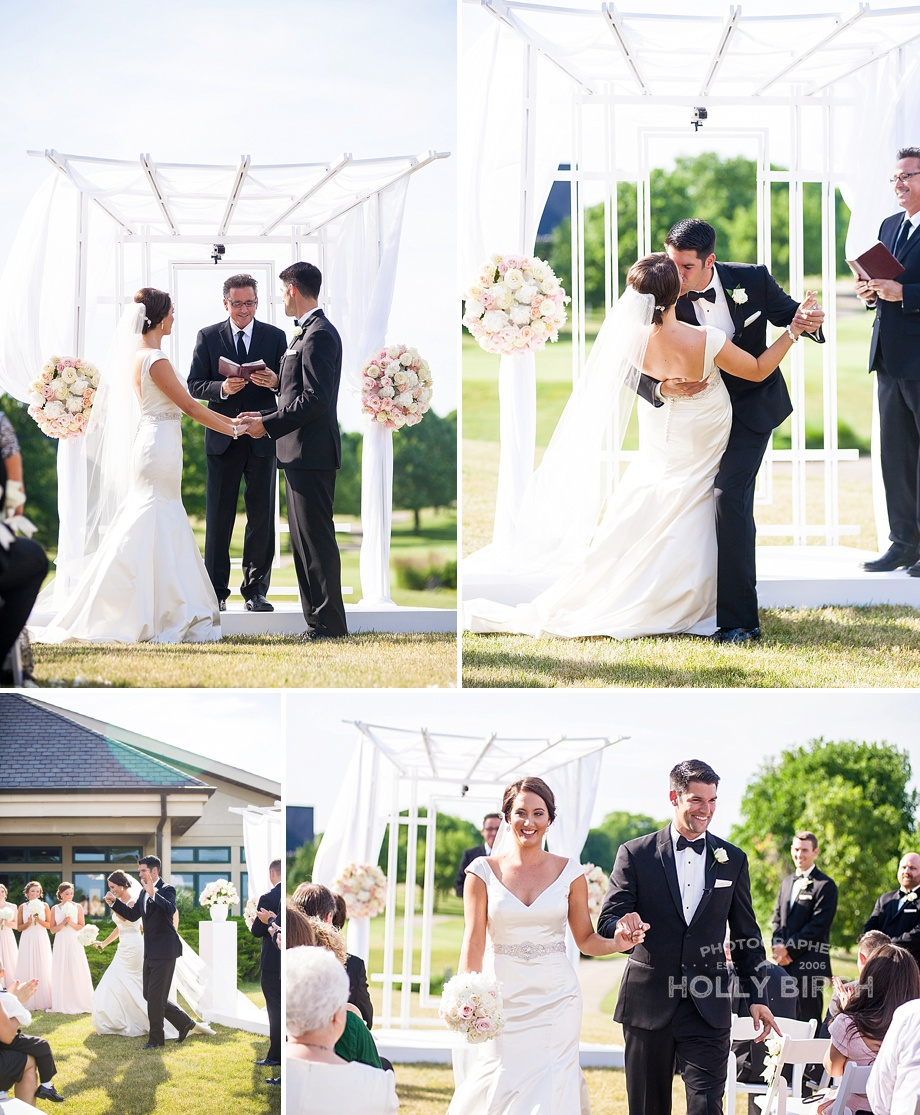 gorgeous wedding ceremony on golf course
