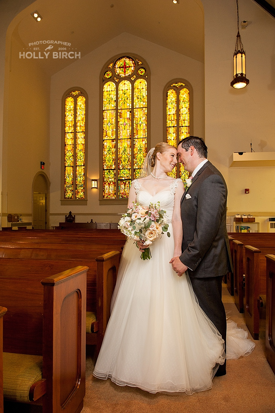 stained glass wedding picture