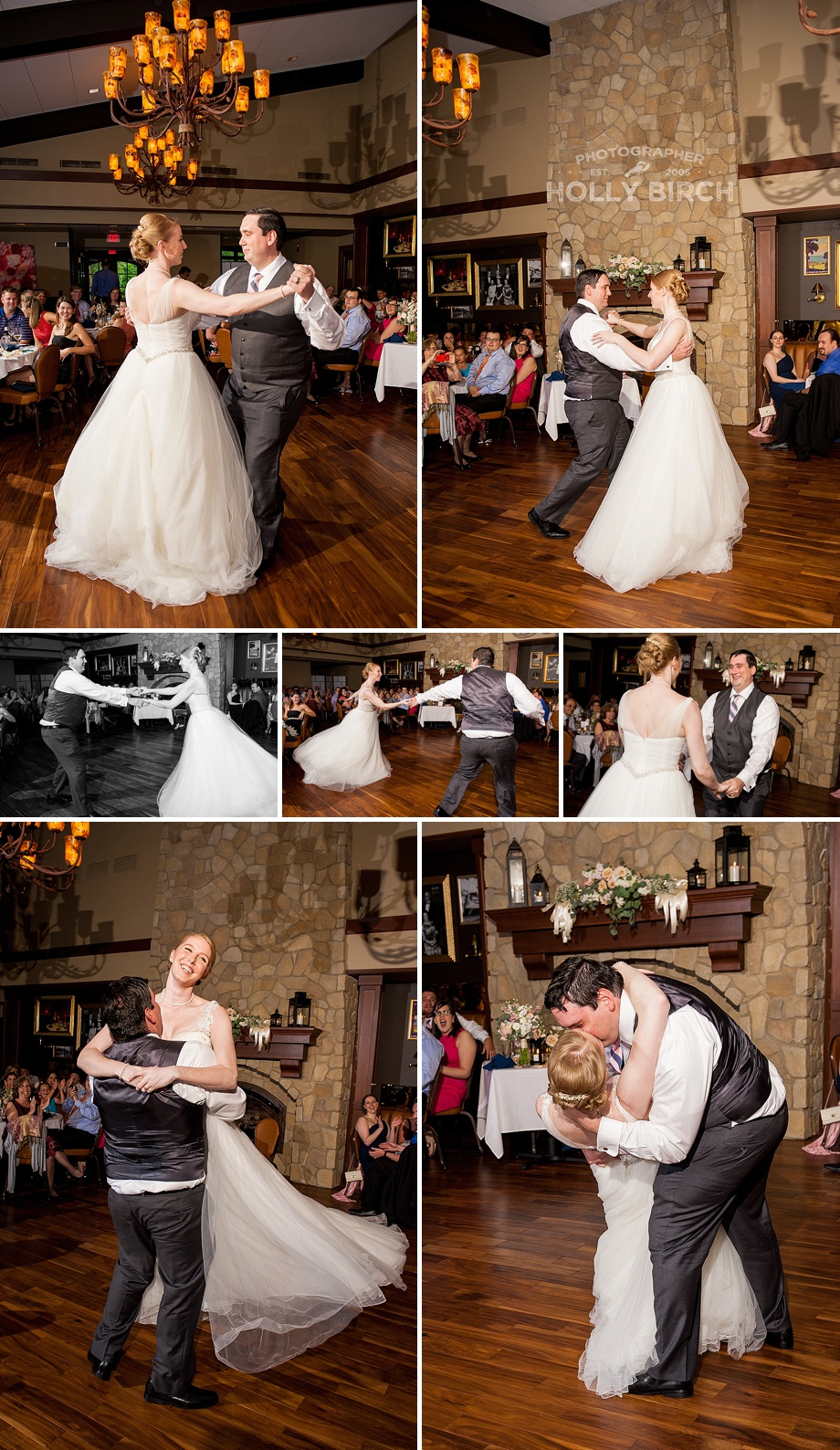 bride and groom's first dance as a couple