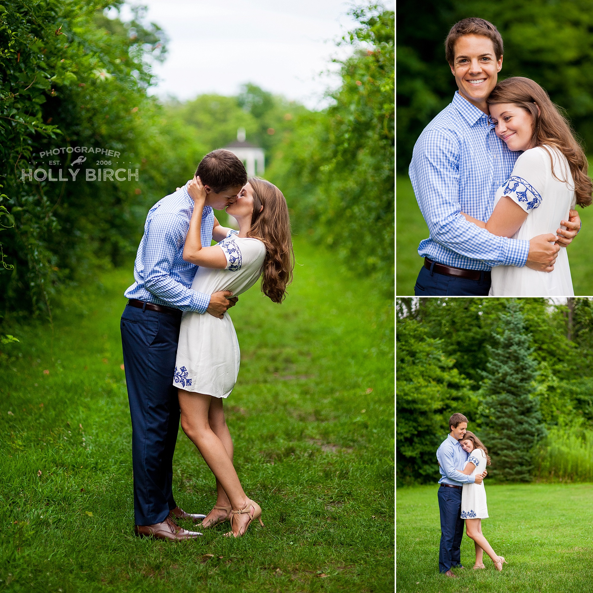 engagement photos at Allerton Park