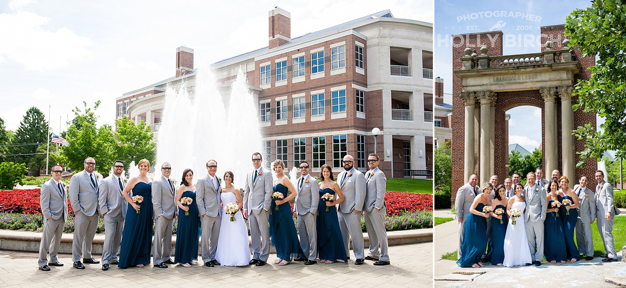 wedding party at Alice Campbell Alumni Center UI