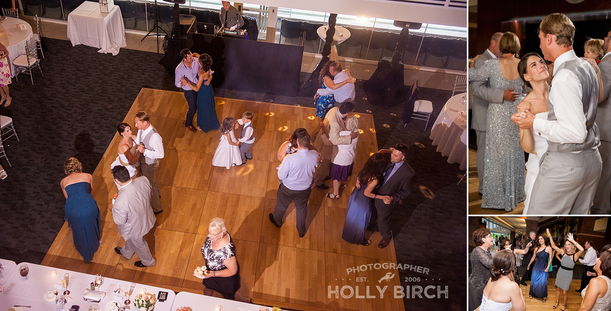 bird's eye view of wedding dance floor