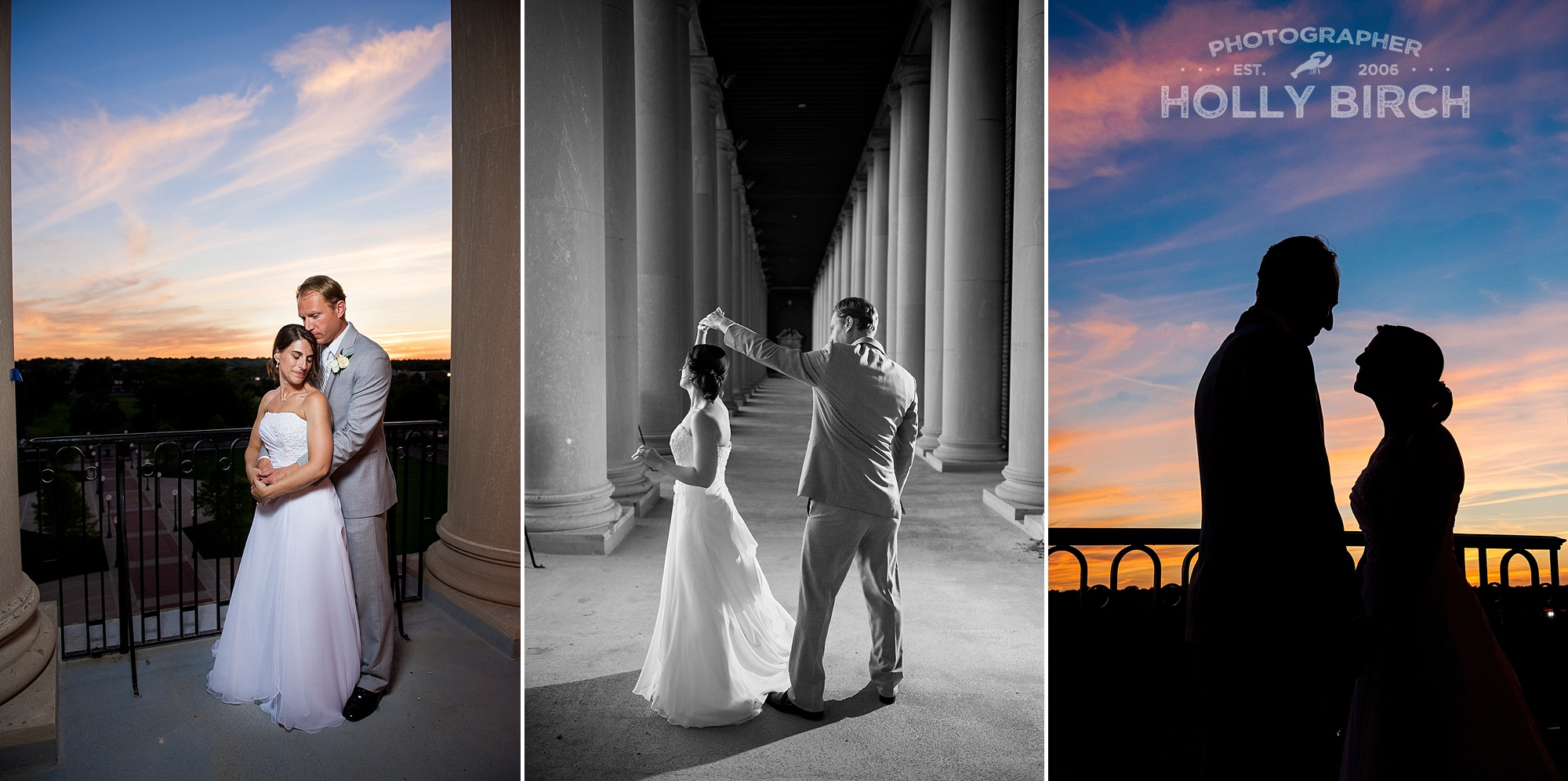 sunset portraits and dancing in the columns