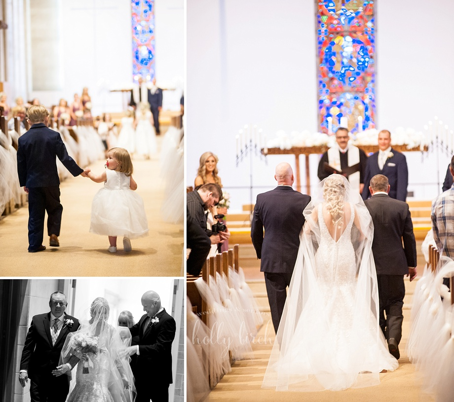 bride enters the sanctuary