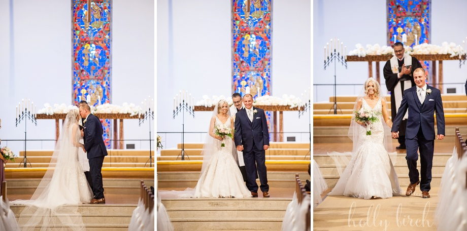 beautiful UI campus wedding ceremony at Green St church
