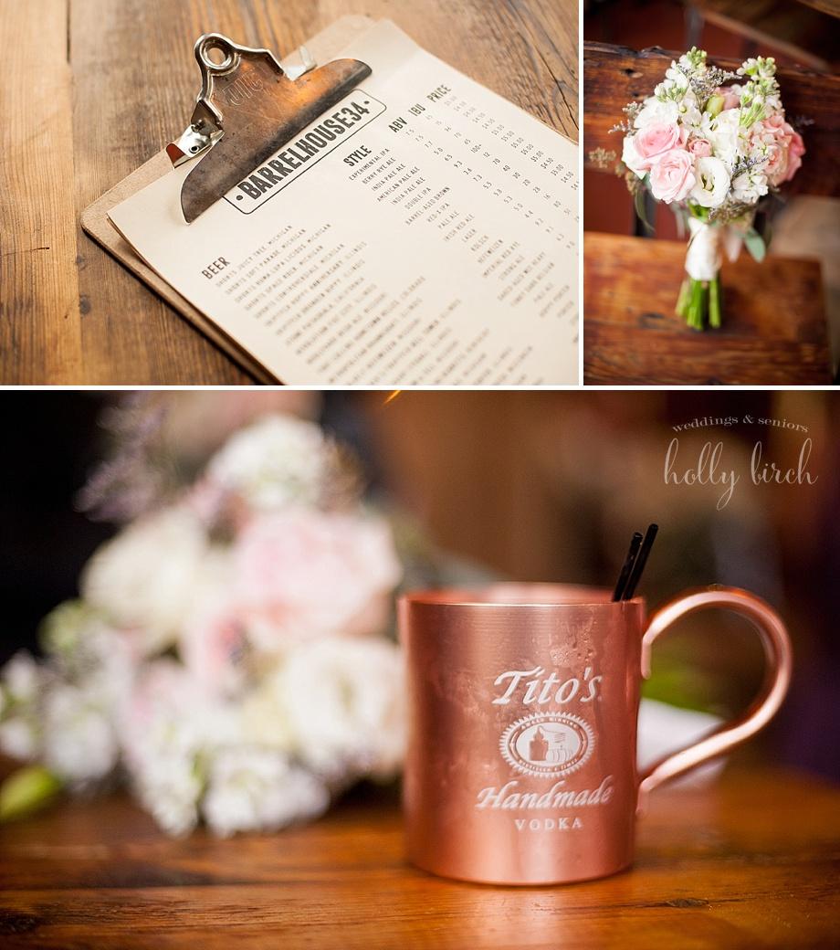 Barrelhouse 34 Champaign menu and mule mug