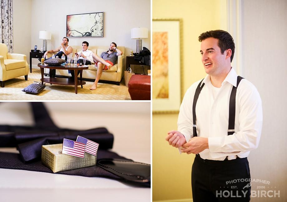 JW Marriott Chicago groom getting ready