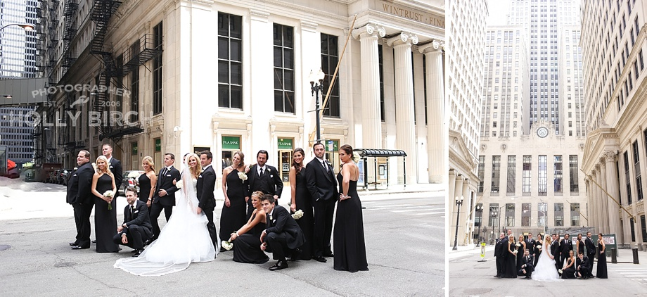 wedding party at Chicago Board of Trade