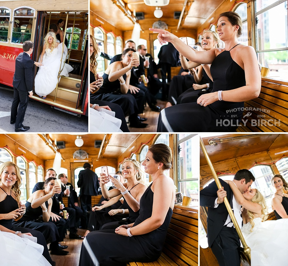 wedding shenanigans on the trolley